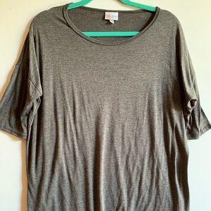 Lularoe Dark Gray Irma Tunic Top Size Extra Small